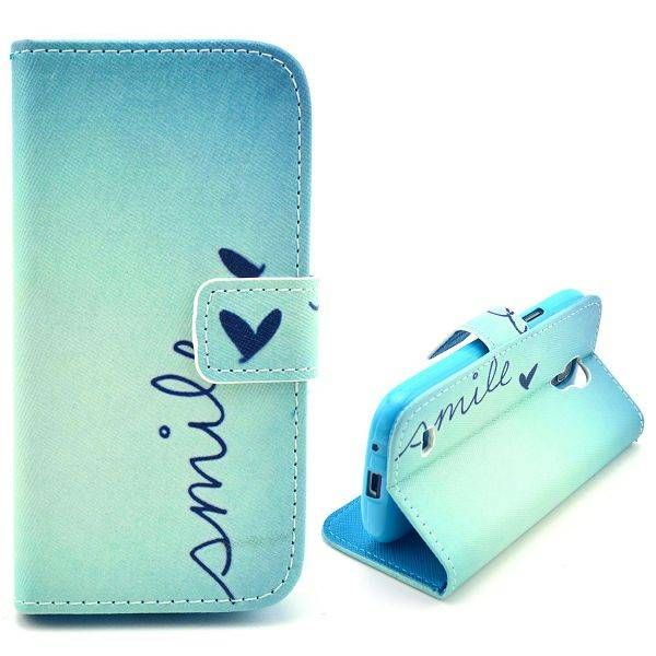 Smile Quote booktype hoes voor Samsung Galaxy S4 mini