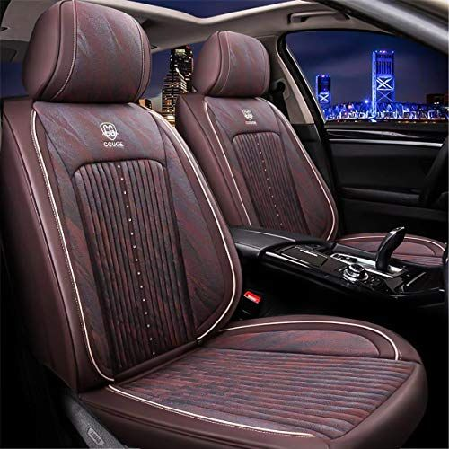 15 Pcs Universal Leather Car Seat Cushion Cover Front And Rear Full Set Seat Pad Protector Suitable For All Year Use Brown Car Accessories Online Market Leather Car Seats Car Seats Car