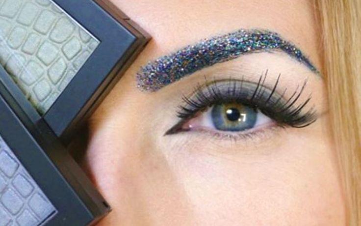 Glitter wenkbrauwen zijn te gek voor een feestje of festival, maar hoe maak je die shiny brows? Bekijk hier inspiratie voor glitter wenkbrauwen in verschillende kleuren.