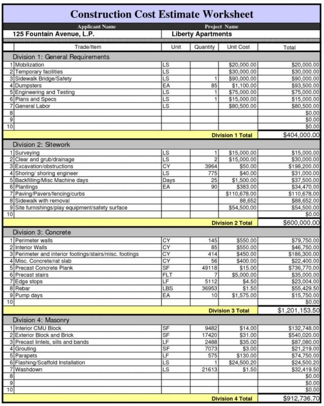 House Building Cost Estimator Spreadsheet Home Building Cost