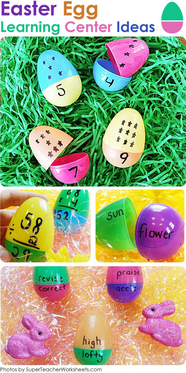147 best super teacher worksheets images on pinterest teacher there are many ways to use plastic easter eggs in your classroom use them to teach math synonyms counting and phonics robcynllc Gallery