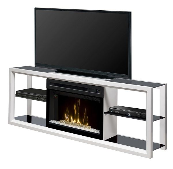 "Dimplex Novara electric fireplace media cabinet with 25"" firebox; $799 cdn."