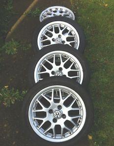 4 x BBS Split Rim VW alloy wheels Polo GTi 1.6 6n2 inch 195 45 15 RS 772 4 x 100