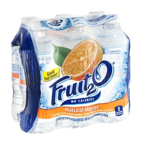 I'm learning all about Fruit2O Flavored Purified Water Beverage Natural Orange - 6 CT at @Influenster!