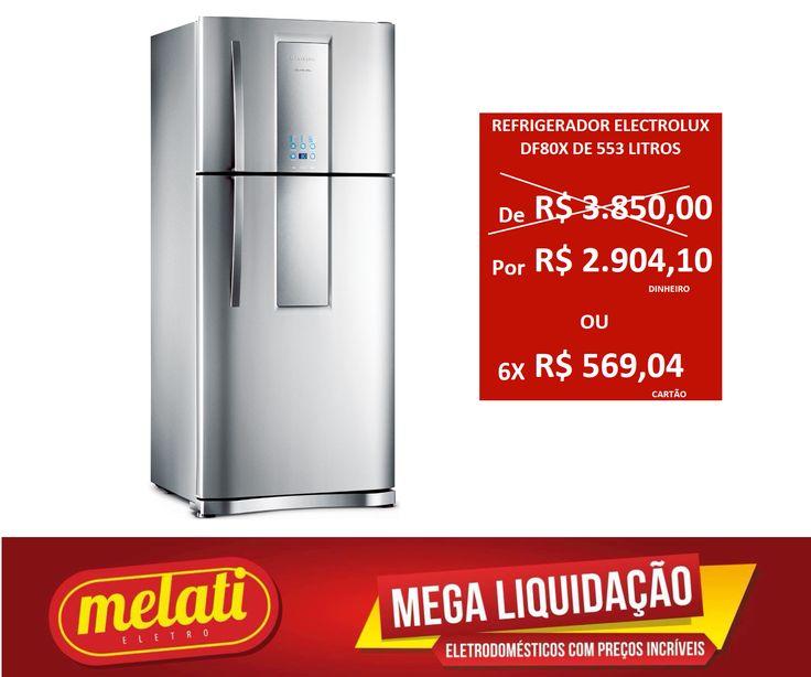 SALDÃO REFRIGERADOR ELECTROLUX LINHA INFINITY DF80X DE 553 LITROS ========================================== CLASSIFICAÇÃO DO PRODUTO SALDO => https://www.melatieletro.com.br/pagina/nossos-produtos.html  ==========================================  📌 ❶ A͟͟N͟͟O͟͟ D͟͟E͟͟ G͟͟A͟͟R͟͟A͟͟NT͟͟I͟͟A͟͟ CONTRA DEFEITO FUNCIONAL  ==========================================  🚛 F͟͟R͟͟E͟͟T͟͟E͟͟ G͟͟R͟͟A͟͟T͟͟I͟͟S͟͟ consulte as regras do frete grátis ==========================================  📍ENDEREÇO DA…