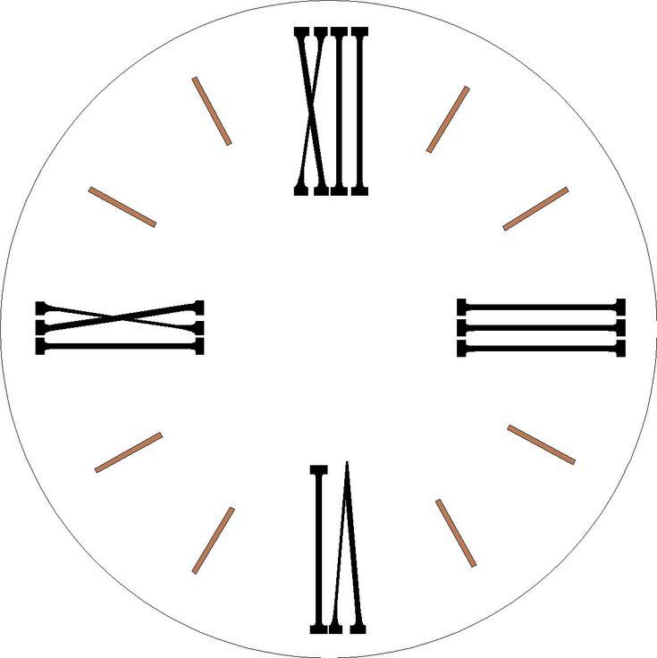 Farmhouse Clock 1 Set Roman Numeral Stencils For Large 30