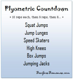 Image detail for -... plyometric exercises to create my own plyometric countdown workout