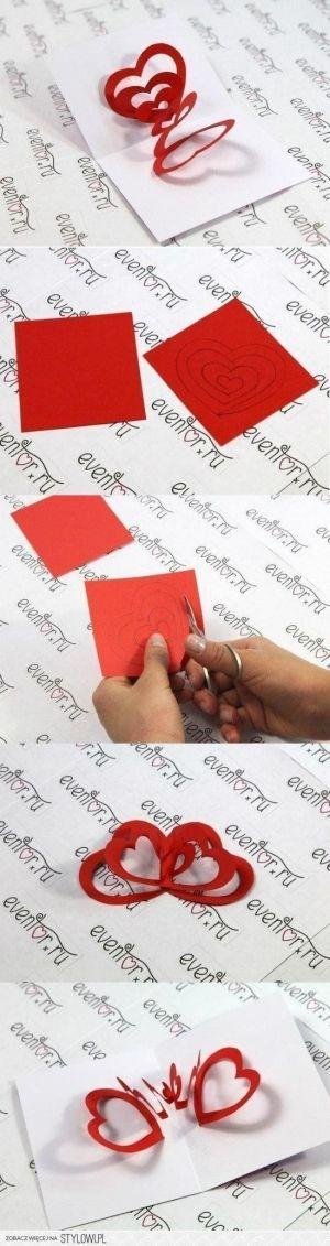 by louise tarjeta de corazones....