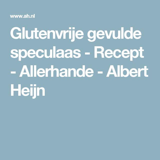 Glutenvrije gevulde speculaas - Recept - Allerhande - Albert Heijn
