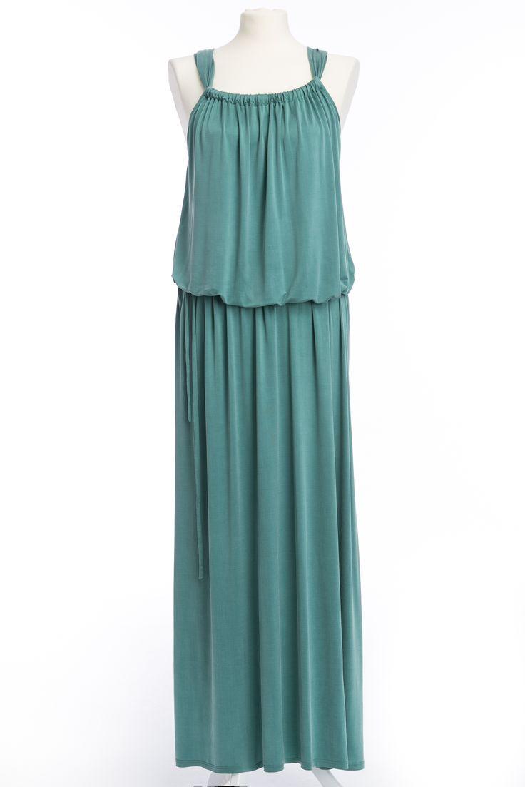 "Tourquoise cupro dress from the newest collection ""BonVouge""  #TheSame #Tourquoise #maxidress #elegant #sukienka"