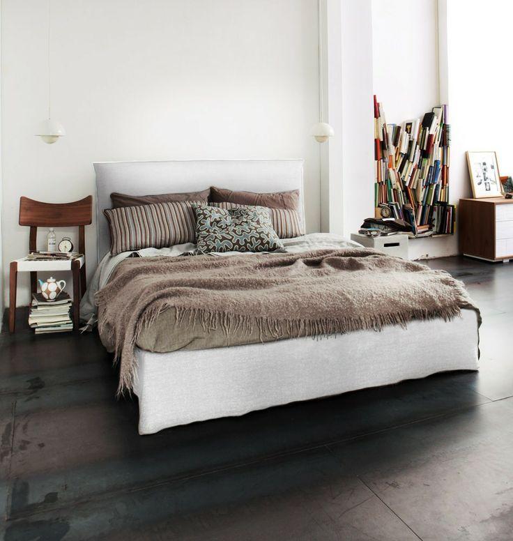 GERVASONI Polsterbett  - gemtliche schlafzimmer farben