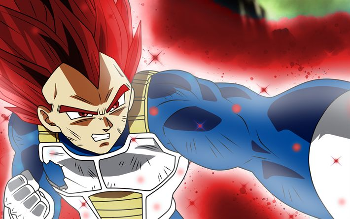 Download wallpapers 4k, Vegito, art, Dragon Ball Super, DBS, manga, Dragon Ball
