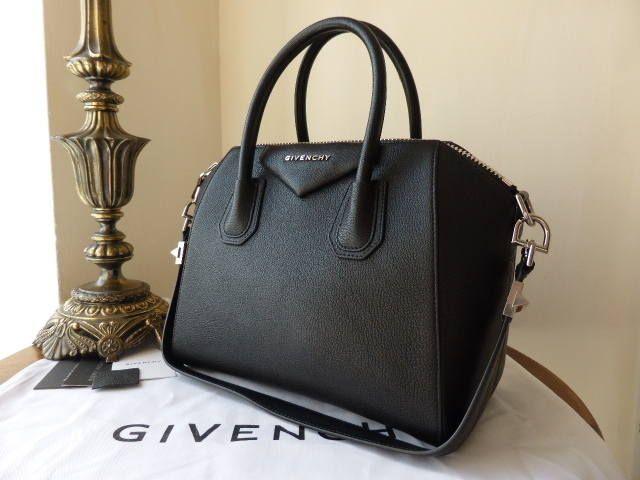 384a0c52e05 Givenchy Antigona (small) in Black Goat Leather - SOLD | Other Designers | Givenchy  antigona, Leather, Black