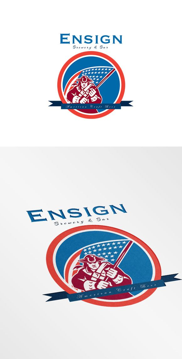 Check out Ensign Brewery and Bar Logo by patrimonio on Creative Market
