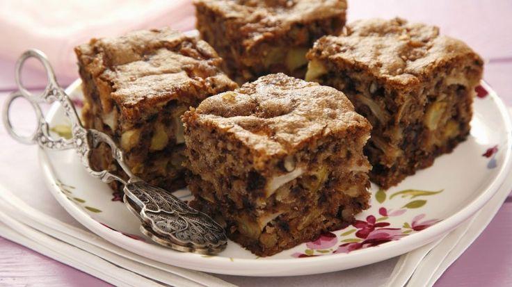 Perfekte herbstliche Kuchen-Kombination : Apfel-Walnuss-Kuchen   http://eatsmarter.de/rezepte/apfel-walnuss-kuchen