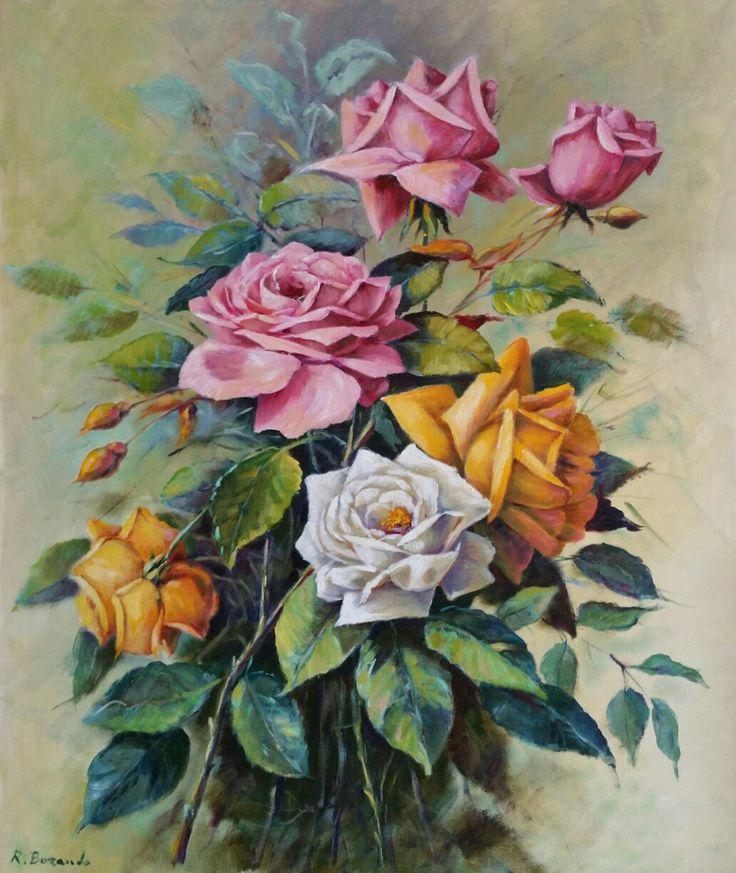 Rose   olio su tele  70 x 50