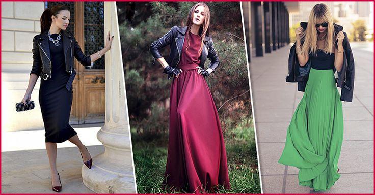 Куртка+платье: 10 модных сочетаний на этот модный сезон