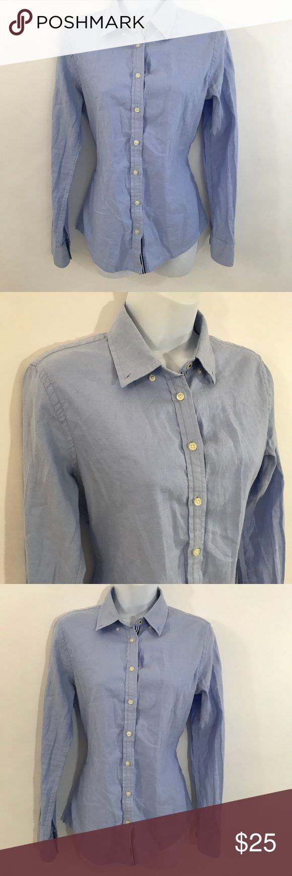 Banana Republic Oxford Shirt Button Down Small Banana Republic Oxford Shirt Womens Button Down Size Small Blue Light Wash Bust 18 inches length 25 inches Banana Republic Tops Button Down Shirts