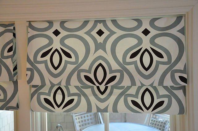 Easy DIY roman blinds