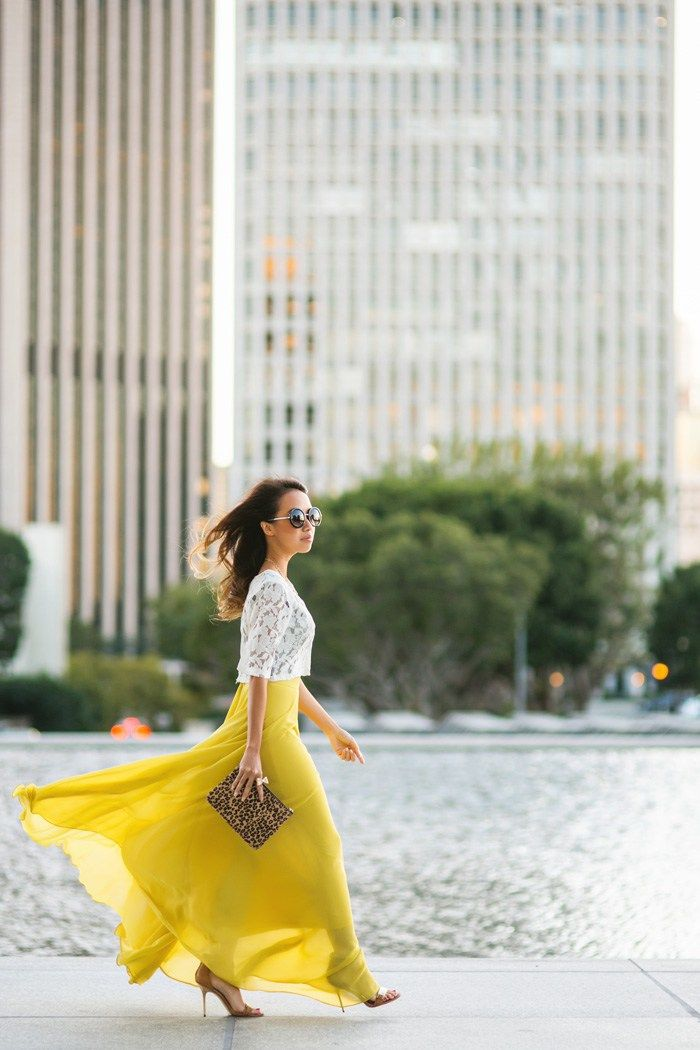 OUTFIT DEL DÍA: Yellow skirt outfit - Look con falda oversize amar...