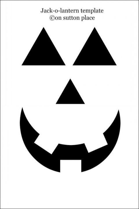 Make this jack o 39 lantern pumpkin pillow cover in just a for Scary jack o lantern face template