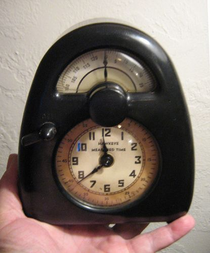 Bakelite Hawkeye clock and timer by Web Artist Designs, via Flickr