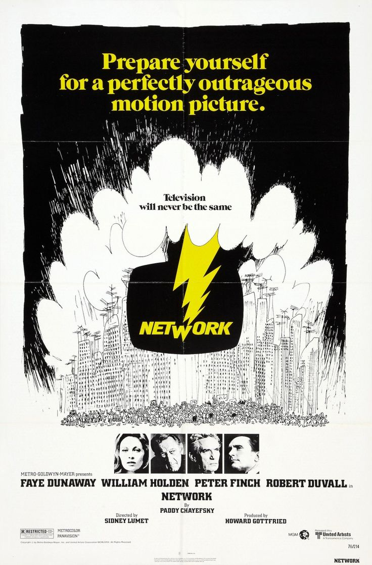 Network (1976) Faye Dunaway - Best Actress Oscar 1976; ahead of its time in every way. It forecast the current national obsession with reality TV as well as the unfortunate trend towards demographically-pandering news networks...