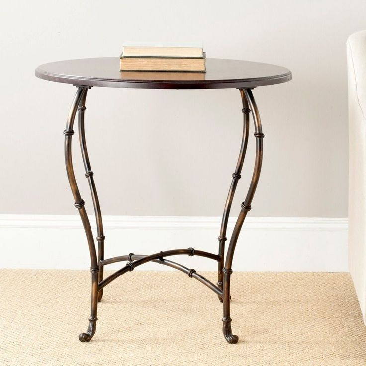 Safavieh Selma Brown Round Wood Table