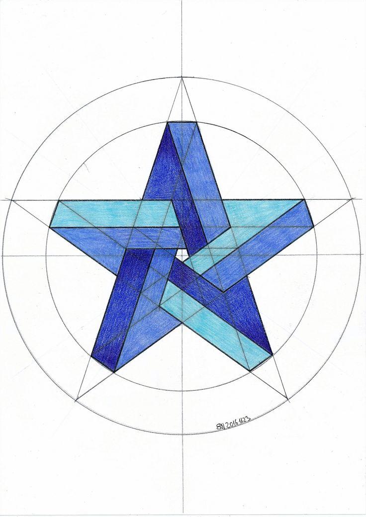 #solid #polyhedra #geometry #symmetry #pattern #hsndmade #regolo54 #mathart #Escher #pentagon #circle #pencil