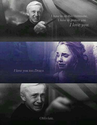 I'm super happy about Ron and Hermione, but for some reason I like the idea of Draco and Hermione. CAN YOU HEAR MY SOBS