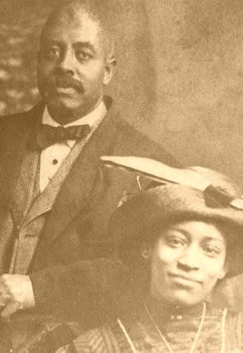 Jimi Hendrix's grand parents were Black Vaudeville performers. Mr. and Mrs. Hendrix (Jimi's Paternal Grandparents) circa 1900s.