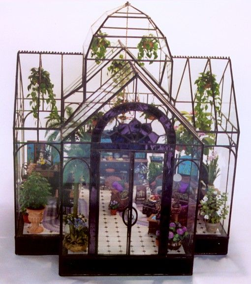 Double Aspect Conservatory - Lady Jane Glass Display Case &  it is ONLY $1,985.00! That is the price without the contents...OMG.