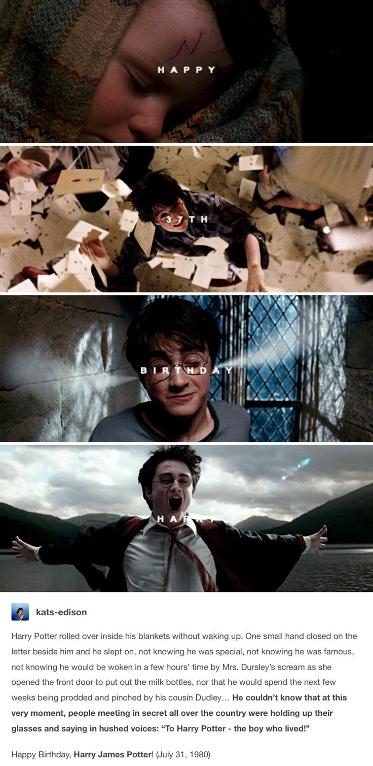 Happy birthday Harry Potter! July 31st