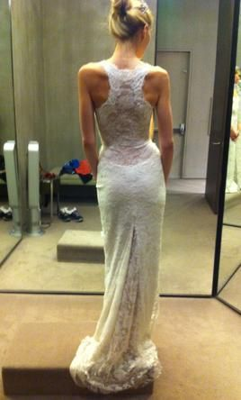 Racerback Monique Lhuillier Wedding Dress - this is what I want