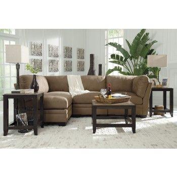 Iago - Mocha 4 Pc. Sectional | 65105/51(2)/46(2) | Sectionals | Roadside Furniture