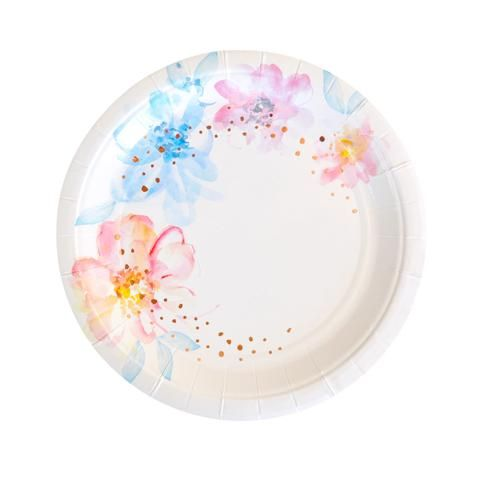 Floral Dessert Plate - Pack of 10