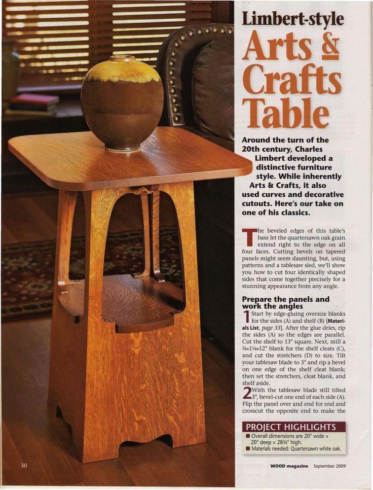 Limbert-style Arts & Crafts Table DIY plan