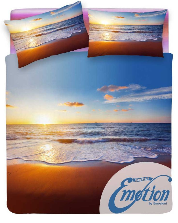 #Digital #Dream // Variante #tramonto  #lenzuola #coppiafedere #sunset #trapunta www.sweet-emotion.it