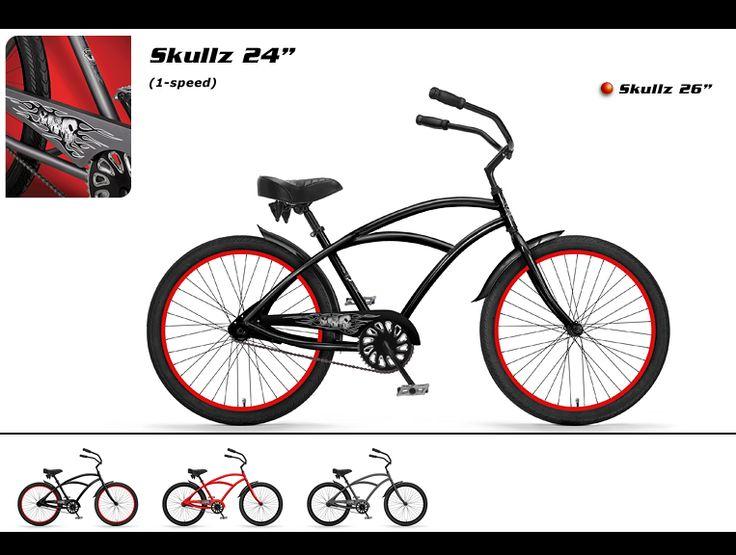 Phat Cycles Beach Cruisers Modified Bicycles Skullz 24 Bike