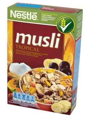 Nestle NESTLE 350g Musli Tropical Płatki zbożowe z owocami tropikalnymi i orzechami    • zdrowe śniadanie • z owocami tropikalnymi i orzechami • ekonomiczne opakowanie