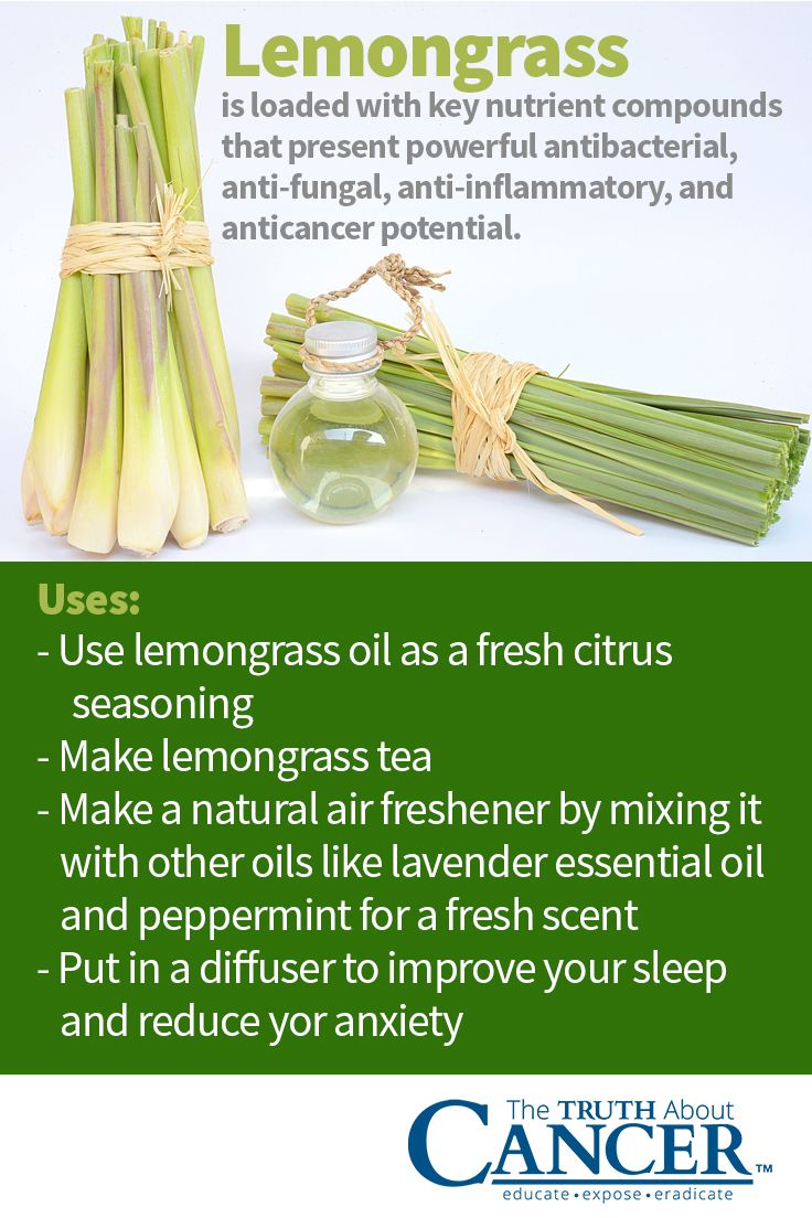Did you know that lemongrass is loaded with nutrients? Lemongrass is loaded with key nutrient compounds that present powerful antibacterial, anti-fungal, anti-inflammatory, and anticancer potential. Could it really fight more than a dozen different types of cancer? Click on the image above to find out. Please re-pin. Together we'll empower the world with life-saving knowledge!