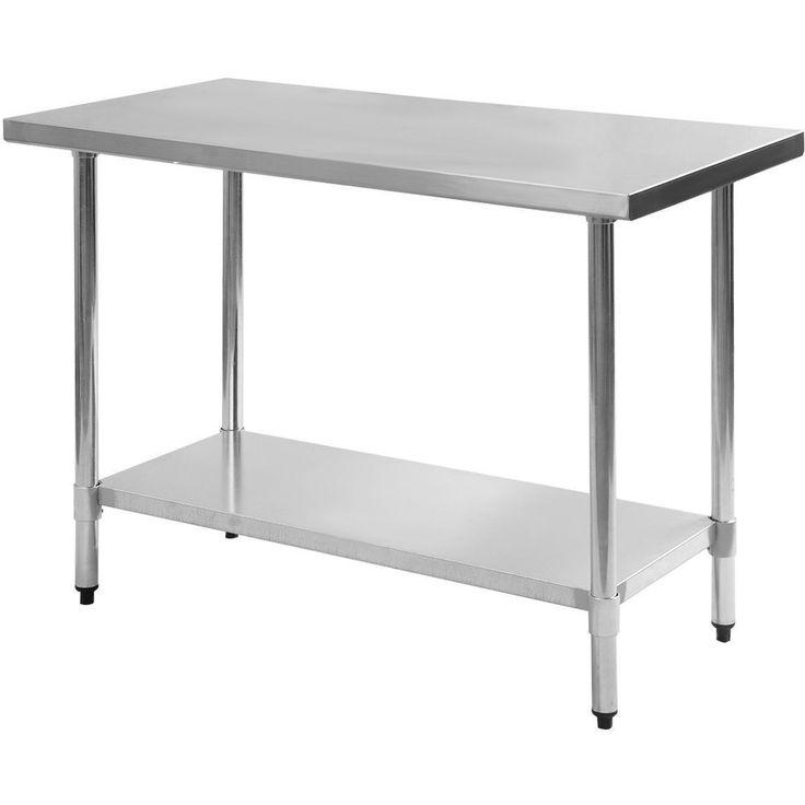 "Stainless Steel Work Prep Table 30"" x 48"" NSF Certified"