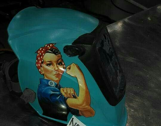 Love welding helmet