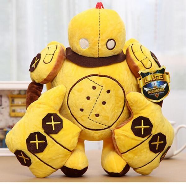 Cosplay Blitzcrank plush toys for kids LOL League of Legends yellow pillow