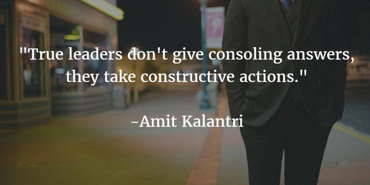 A pinch of wisdom from Amit Kalantri.