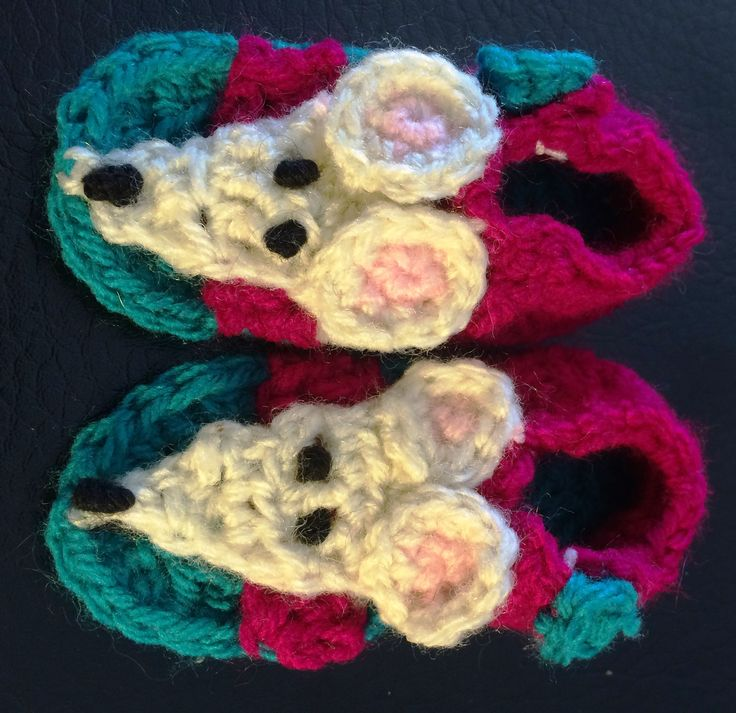 Mouse crochet sandal pattern. uses 8 ply and sole measures 9cm.
