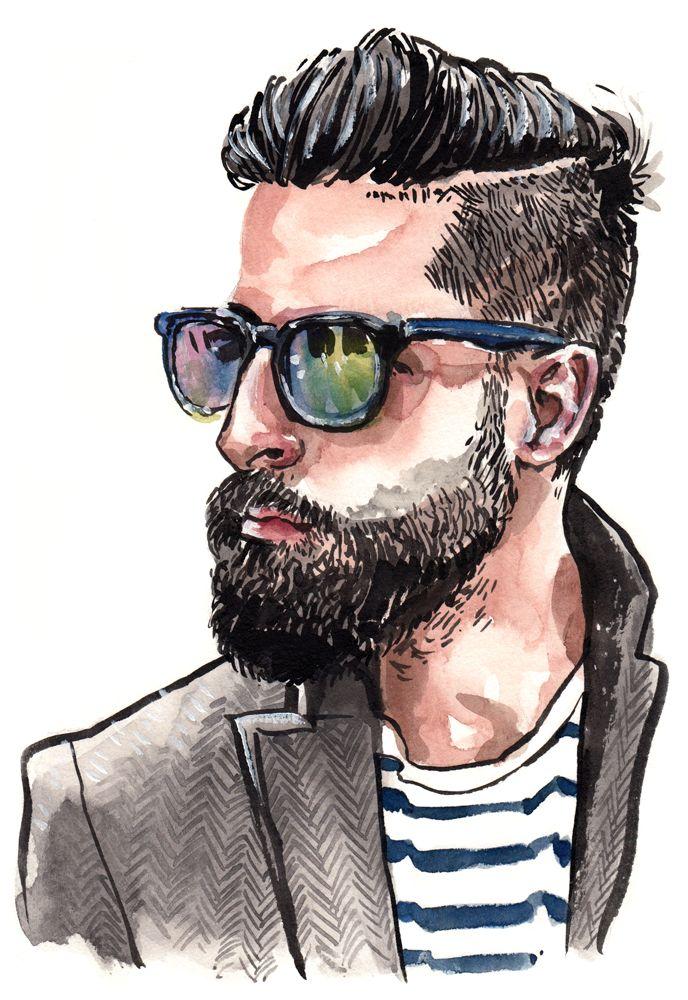 Best 25+ Man illustrat...