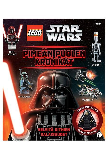 Lego Star Wars: Pimeän puolen kronikat-kirjassa on mukana ärhäkkä minihahmo keisari Palpatine. Ikäsuositus 6+