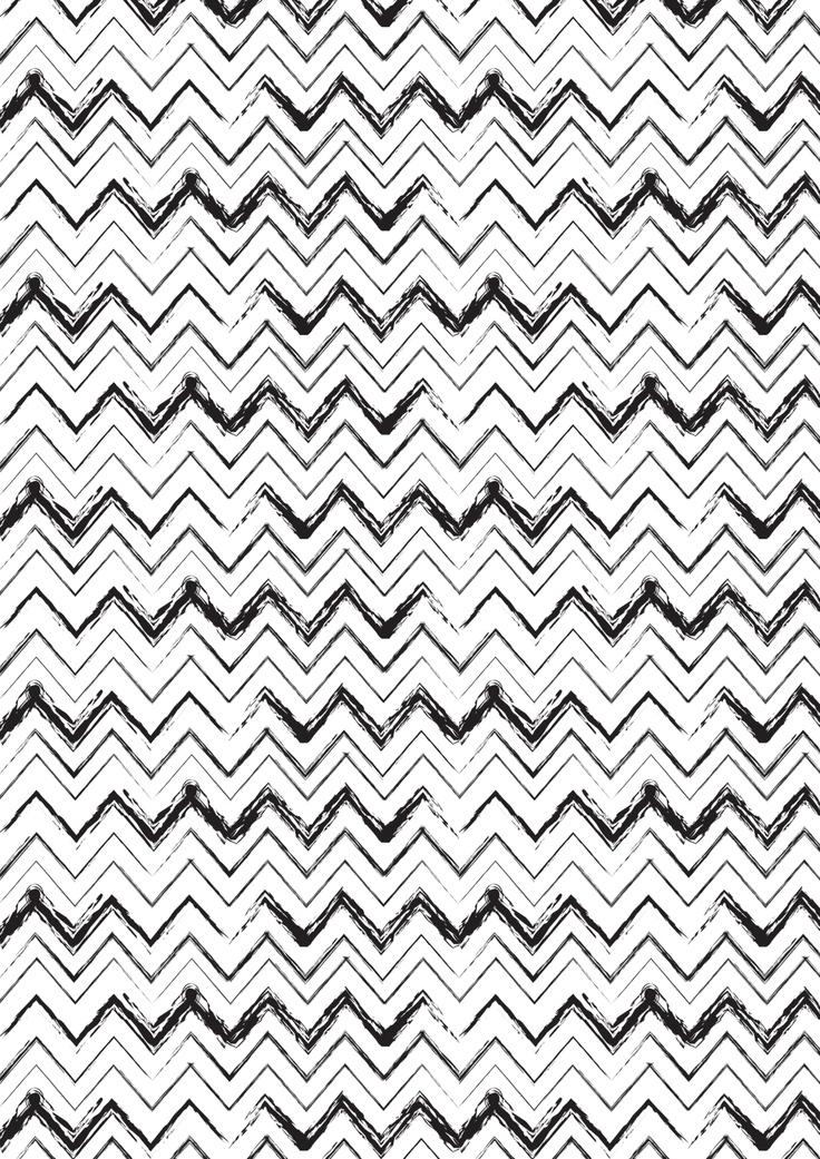 Monochrome Black and White print pattern Zigzag