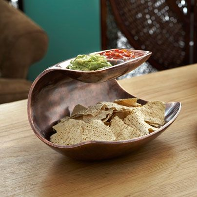 Nambé's Double Dip Server #superbowl